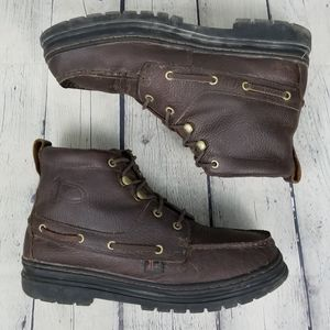 JUSTIN | Chip cowhide leather upper lace-up boots